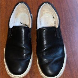 Ugg Black Leather Kitlyn Sneakers Slip